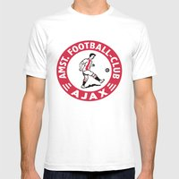 AFCA Ajax Amsterdam Mens Fitted Tee White SMALL