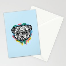 Pug Face Stationery Cards