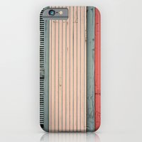 iPhone & iPod Case featuring Teal shutter, coral door by Wood-n-Images