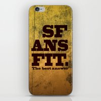 SFANSFIT... The Best Ans… iPhone & iPod Skin