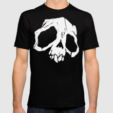 Ghoul Skull Mens Fitted Tee Black SMALL