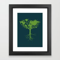 Earth Tree Framed Art Print
