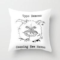 Typo Demons Throw Pillow