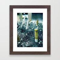 Zombie Cigarette Framed Art Print