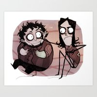 Burton Grumps Art Print