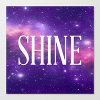 Shine Galaxy  Canvas Print