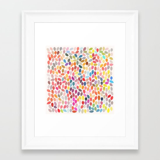 rain 3 sq Framed Art Print
