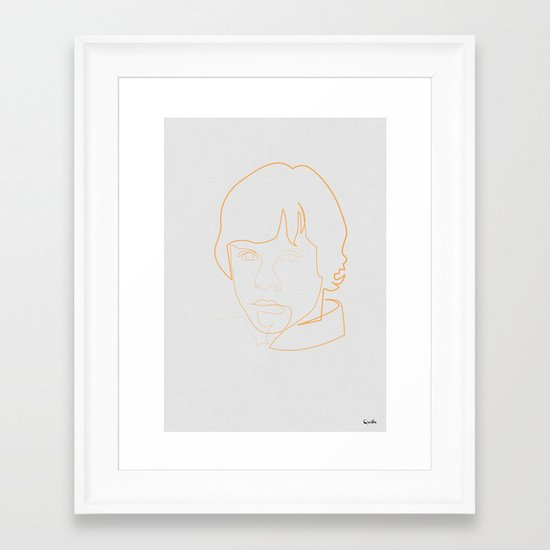 One line Skywalker Framed Art Print