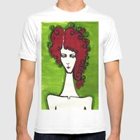 Cherry  Mens Fitted Tee White SMALL