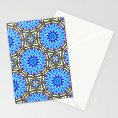 Liquid Blue Kaleido Pattern Stationery Cards