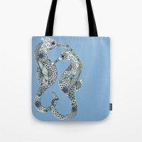 Two Seahorses Tote Bag