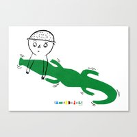 Crocodile Float Canvas Print