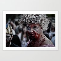 Zom Queen Art Print