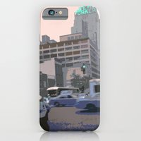 iPhone Cases featuring NY#6 The New Yorker, Manhattan by bravo la fourmi