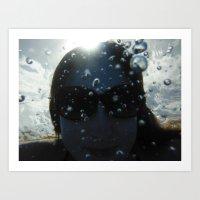 Underwater Portrait Art Print