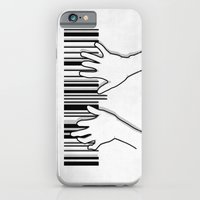 iPhone & iPod Case featuring Barcode pianist by Rodrigo Ferreira