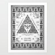 Legend Of Zelda Kingdom … Art Print