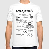 Onion Frittata Mens Fitted Tee White SMALL