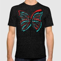 Colorfly Mens Fitted Tee Tri-Black SMALL