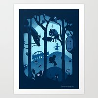 Magical Gathering Art Print