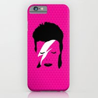 iPhone & iPod Case featuring Ziggy Stardust - Pink by Buchino
