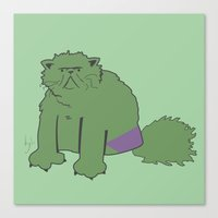 The Incatable Hulk Canvas Print