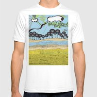 Id Escaped Album Artwork… Mens Fitted Tee White SMALL