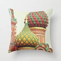 Russian Onion Domes Throw Pillow