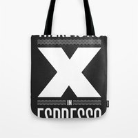 No X in Espresso – Dark Grey Tote Bag