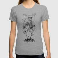 forest Womens Fitted Tee Athletic Grey SMALL