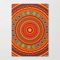 Mandala Aztec Pattern Canvas Print