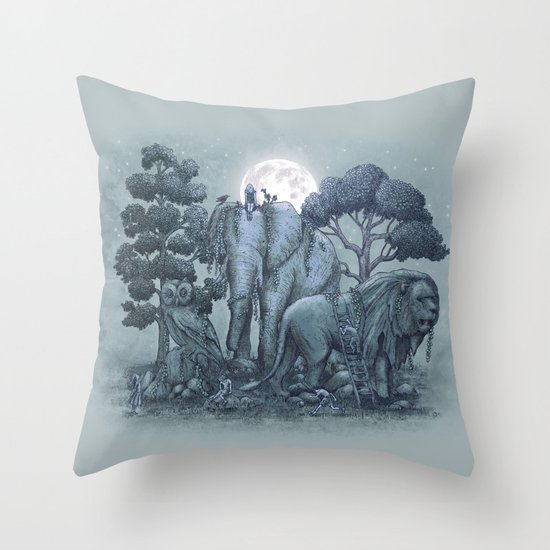 Midnight in the Stone Garden (colour option) Throw Pillow