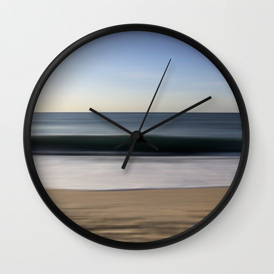 seascape blue III Wall Clock