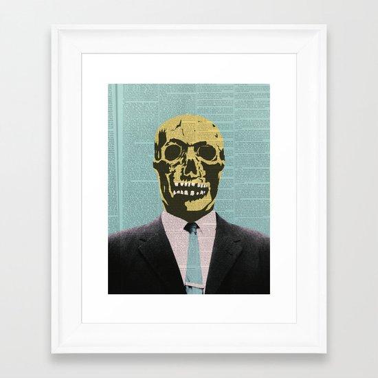 Working Man Framed Art Print