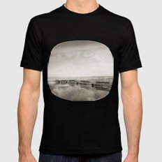 Lost time Black SMALL Mens Fitted Tee
