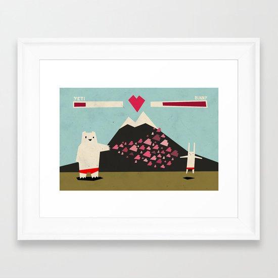 I love you more! Framed Art Print