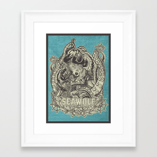 SeaWolf Framed Art Print