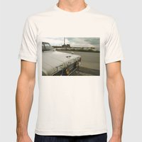 Travel Away On A Rainy D… Mens Fitted Tee Natural SMALL