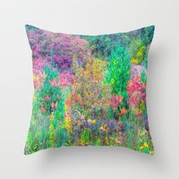A Walk Among The Colors … Throw Pillow