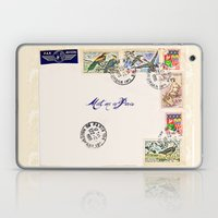 French Postage, meet me in Paris Laptop & iPad Skin