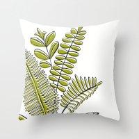 Fern Study Throw Pillow