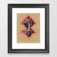Simple Shape Collage 2 Framed Art Print