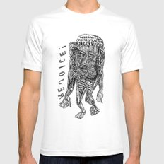 WHEN WHY ... HOW - REJOICE! Mens Fitted Tee White SMALL
