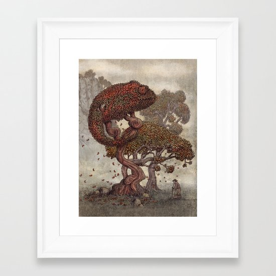 Autumn Chameleon  Framed Art Print