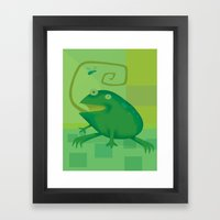 Shallow Frog Framed Art Print
