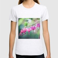 Bleeding Hearts Womens Fitted Tee Ash Grey SMALL