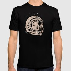 Astrollama SMALL Black Mens Fitted Tee