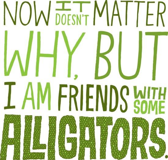 Aligator Friends Art Print