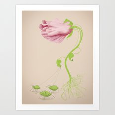 Wild Flowers: Be the Flower you want to be Art Print