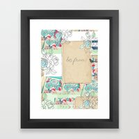 be free! Framed Art Print